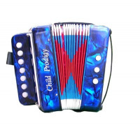 Soundsation ST-214B Blue/Rood Mini Accordion