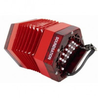 Soundsation SACON-1503-RD Red ED Celluloid Concertina 15 Keys