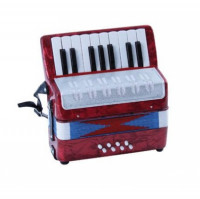 Soundsation ST-178B Blue/Rood Mini Accordion