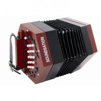 Soundsation SACON-1503-WD Concertina 15 Keys Nat. Wood