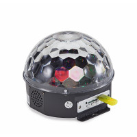 6*3W LED New Pattern Crystal Ball Light with built-in mp3 player and remote control Soundsation CB-630