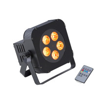Battery powered 5x18W RGBWA+UV 6in1 LED PAR with wireless DMX Soundsation PAR-18W-5-BW