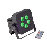Battery powered 5x10W RGBW 4in1 LED PAR Soundsation PAR-10W-5-B