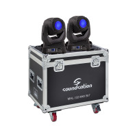 Set composed by 2 Beam moving head with 132W standard 2R lamp and flight case Soundsation MHL-132 MKII SET