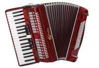 Soundsation SAC-3780-RD  3/5 Red Accordion w/Case