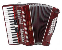 Soundsation SAC-3796-RD Red Accordion 96B 37K