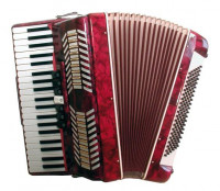 Soundsation SAC-41120-RD Red Accordion w/Case
